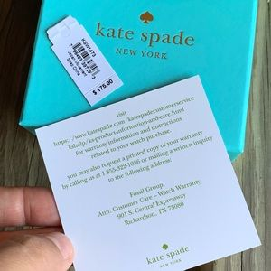 kate spade Accessories - NEW Kate Spade New York Gramercy Leather Watch